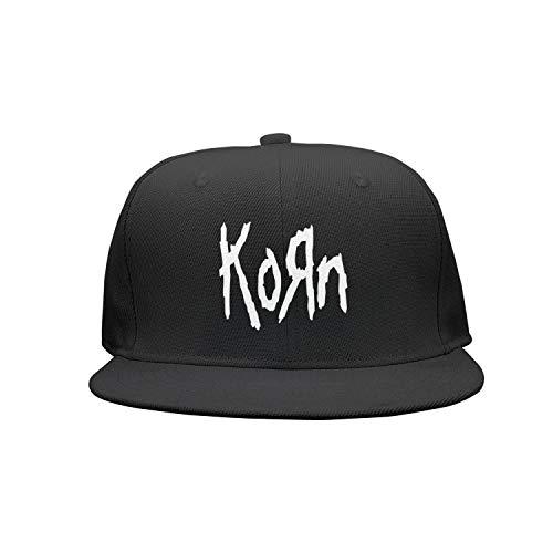 UONIERSH Band-Korn-Metal-Cool Sports Flat Bill Adjustable Hat Baseball Snapsnapback Cap Hat Men & -