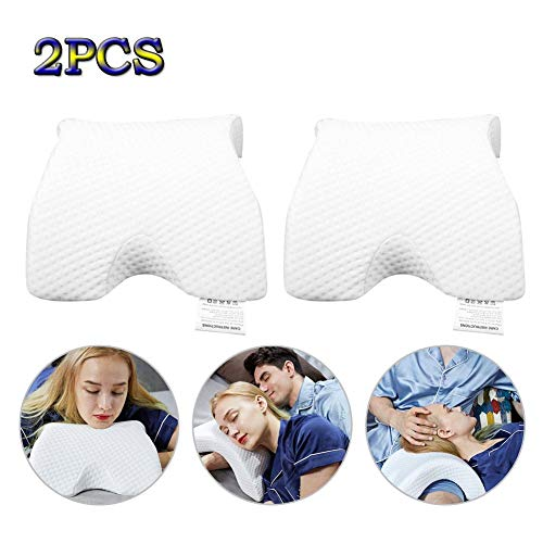 Volwco Foam Pillow - Cool Gel Memory Foam Pillow for Sleeping, Neck Pain Relief Pillow Prevent Hand Acid - Includes Hypoallergenic for Side Sleepers, Back and Stomach Sleepers,Standard Size 2pcs