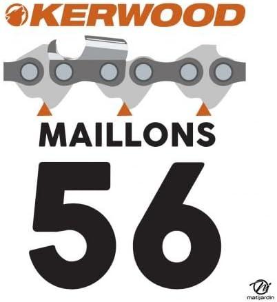 cha/îne tron/çonneuse 40 cm Kit Kerwood guide Pi/èce neuve 56 maillons 3//8 LP 1,3 mm