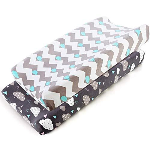 No se arrugan 2 paquetes // 32x16 x4 No se contrae Cambie las cubiertas de las almohadillas para el beb/é