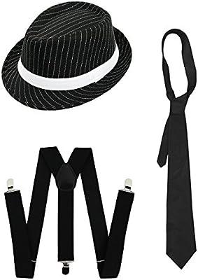 Gangster Disfraz de años veinte Serie – Set de accesorios deluxe ...