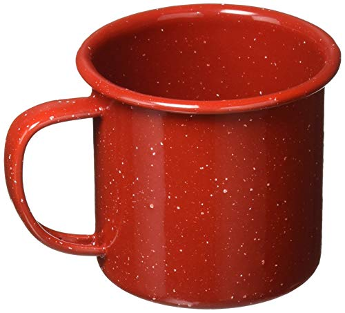 Gsi Outdoors Cup - GSI Outdoors Red Graniteware Cup, 12 Ounce