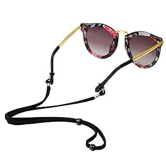 Xiang Ru Adjustable Sunglasses Strap Sports Eyewear Retainers Anti-slip Eyeglass Cord Holder for Kids Black