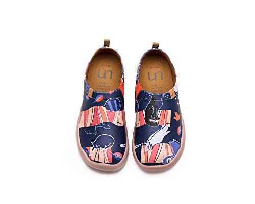 UIN la couchemagique Chaussures bateaux de cuir comfortable bleu pour femme