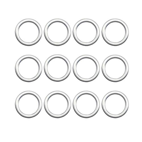 12 PCS N0138157 Engine Oil Drain Plug Gasket Sealing Washer for Audi A3 A8 Q5 Porsche Cayenne VW Tiguan Touareg CC