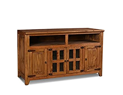 "Westgate Solid Wood 72"" Rustic Brown TV Stand"