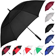 MRTLLOA Automatic Open Golf Umbrella, 62/68 Inch Extra-Large Oversized Double Canopy Vented Windproof Waterpro