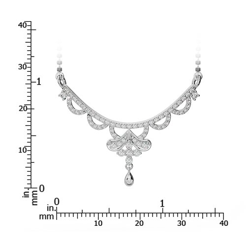 Or blanc/or jaune/Platinum-Collier Femme-diamant mangalsutra dnc-2241-vsgh