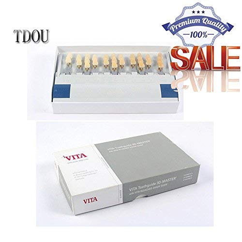 Genuine Professional Teeth Guide VITA29 Color 3D-Master Style with Bleached Guide VITA 3D Teeth Shade Whitening Guide By Tdou
