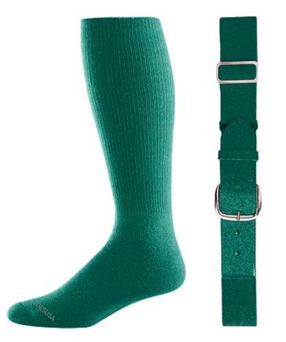 Joe's USA - Baseball Socks & Belt Combo Set Colors Available (Dark Green, Intermediate (9-11))