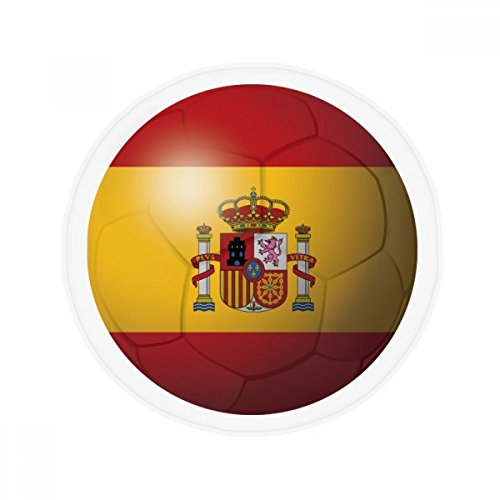 Spain National Flag Soccer Football Anti-slip Floor Pet Mat Round Bathroom Living Room Kitchen Door 80cm Gift by DIYthinker