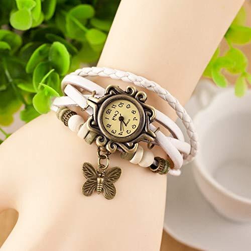 Werrox Retro Weave Around Leather Bracelet Watch Fashion Lady Woman Quartz Wrist Watch | Model BRCLT - 22170 | ()