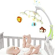 GrowthPic foldable baby crib musical mobile with star projector function