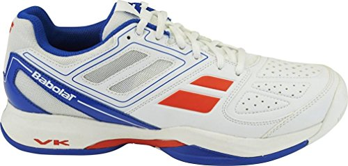 BABOLAT Pulsion All Court Chaussures Homme, Blanc/Bleu, 44.5