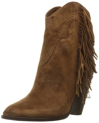 Frye Remy Fringe Short Femmes US 8.5 Brun Bottine