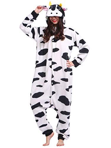 De Nuit Outfit Anime Animal Adulte Vetements Costume Cosplay Halloween Pyjama Kigurumi Onesie Deguisements Vache Soiree Combinaison Unisexe pAq8w6