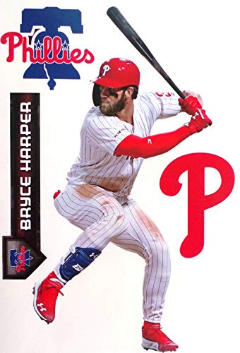 FATHEAD TEAMMATE Bryce Harper Philadelphia Phillies Logo Set Official MLB Vinyl Wall Graphics 17