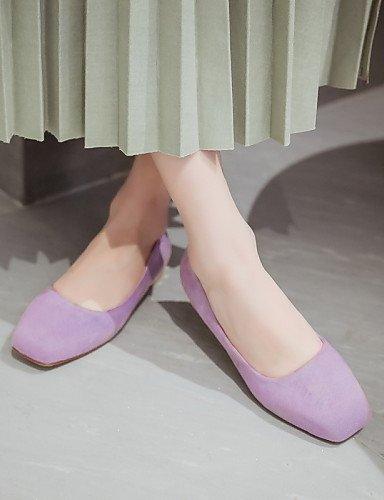 del eu39 al aire cuadrado Beige y uk6 rosa zapatos cn40 morado PDX us8 libre oficina pisos plano casual pie sintética talón 5 carrera de negro de dedo black piel mujer 5 pxPq6zwO