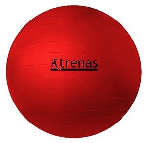 TRENAS Gymnastikball / Sitzball 45 cm / rot
