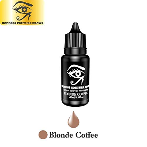 Goddess Couture Brows 10 ml Microblading Eyebrow Pigment, Organic Medical-Grade and Semi-Permanent Makeup Tattoo Ink (Blonde Coffee) -