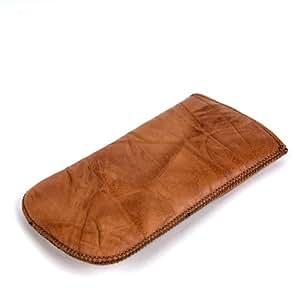 NFE² Real Funda de piel marrón con pestaña para Swissvoice MP40