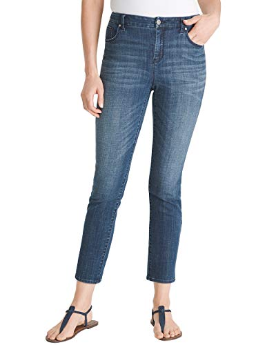 Chico's Women's So Slimming Girlfriend Ankle Jeans Size 4 S (0 REG) Denim