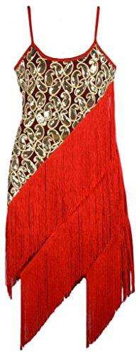 Sexy-Spaghetti-Strap-Sequines-Contrast-Tassels-Latin-Salsa-Dance-Dress