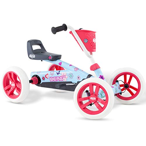 BERG Toys Girls Buzzy Bloom Kids Pedal Go Kart for 2 to 5 Year - Kids Cars Petal