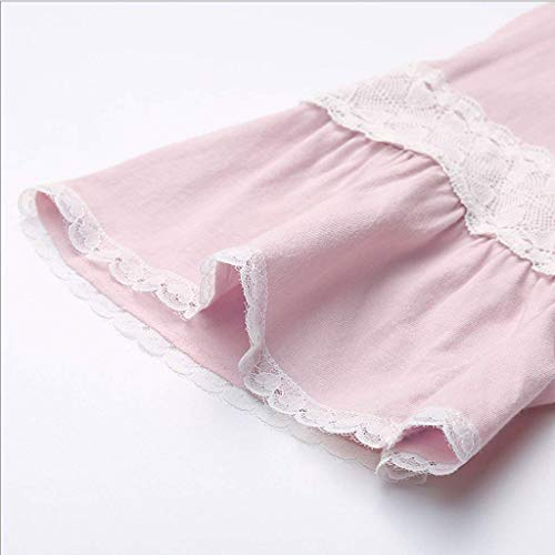 Encaje Pijama Tops Mujer Taille Moda Cuello Camisetas Pijamas Pantalones Bolsillos Splice O Lazo Manga De Juegos Corta 2 Colour Con Elastische PqHxnCT5X