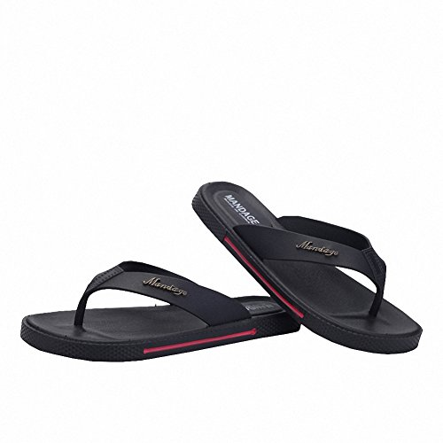 Black Black Sports Summer Flops Sandals Beach Mens Comfortable Flip Slippers Ben Thong qpwxZBx
