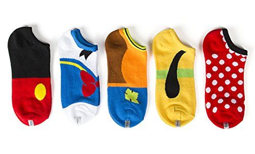 disney-womens-classic-5-pack-no-show-socks-multi-9-11