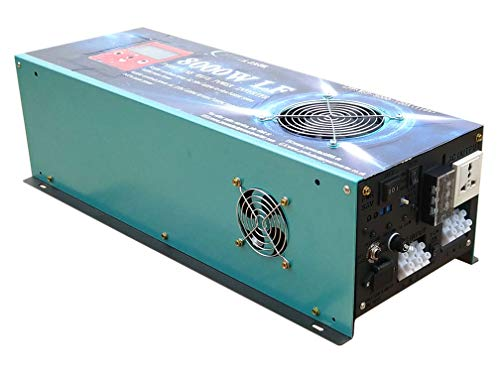 10.0 DC 12V 32000W Peak 8000W LF Split Phase Pure Sine Wave Power Inverter DC 12V to AC 110V&220V 60Hz, with 100A BC/UPS/LCD Display