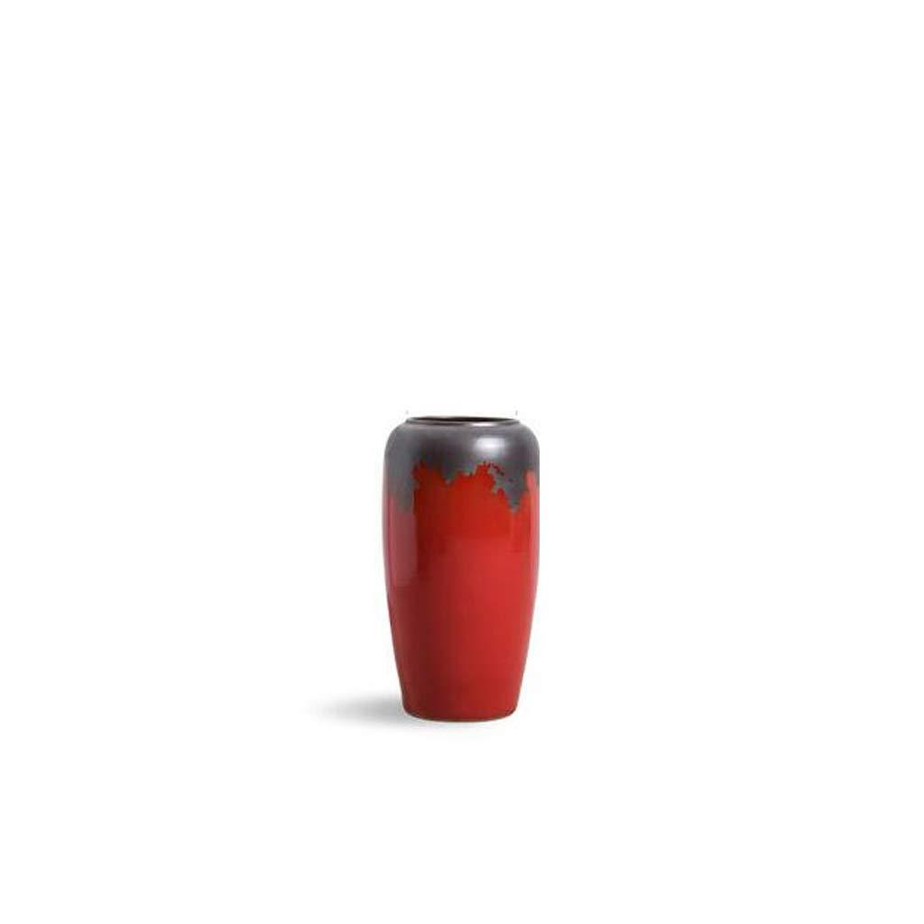 中国の陶磁器の装飾品の床の大きな花瓶赤ドライフラワー飾り SHWSM (サイズ さいず : High 49CM) B07RZFFZMP  High 49CM