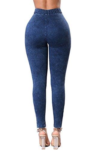 Jeans Skinny Jeans Pousse Haute Darkblue Les Stretch Des Taille xwYwTIqX
