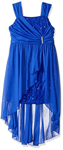 Amy Byer Girls Big Sleeveless Sequin Dress with Overlay