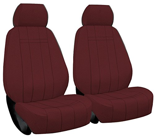- Front Seats: ShearComfort Custom Waterproof Cordura Seat Covers for Chrysler Town and Country (2005-2010) in Burgundy for Buckets w/Inner Arms and Adjustable Headrests (LX and Touring Models)
