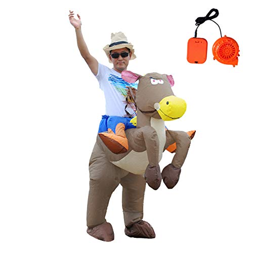 Inflatable Dinosaur T-Rex Costume Fancy Riding Costumes for Christmas/Halloween/Birthday Party Dress (Horse)
