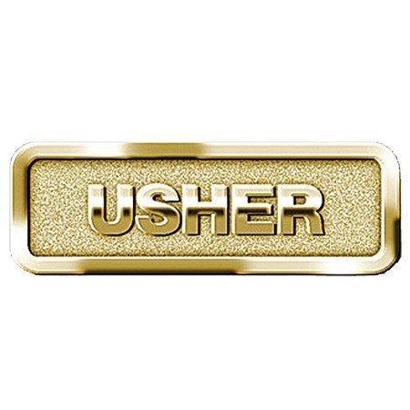 1 X Usher Badge, Brass ()