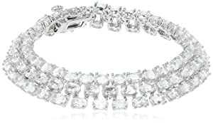 """Sterling Silver Gemstone Bracelet, 7"""" by Amazon Curated Collection"""