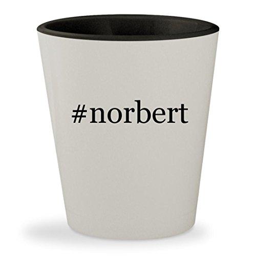 #norbert - Hashtag White Outer & Black Inner Ceramic 1.5oz Shot Glass (Glas-leser)
