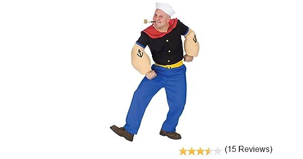 Fun World - Disfraz de Popeye el marino para hombre (incluye pipa ...