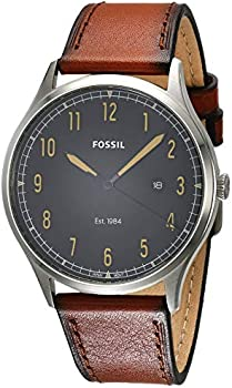 Fossil 42mm Forrester Brown Leather Strap Men's Watch