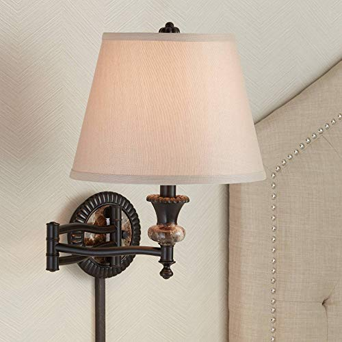 Westbridge Traditional Plug-in Swing Arm Wall Lamp in Bronze - Barnes and Ivy