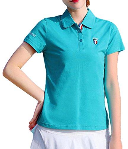 BeiBang(バイバン) 夏 tシャツ 半袖 コットンtシャツ 無地 カジュアル ゆったり 夏 トップス おしゃれ スポーツ風 カジュアル ゴルフ tシャツ レディース ゴルフシャツ 大きいサイズ