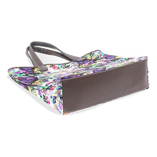 Coosun Womens Tropical Patterns Pu Leder Große Einkaufstasche Griff Umhängetasche