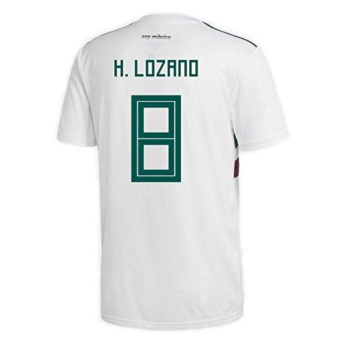 (adidas H. Lozano #8 Mexico Away Men's Soccer Jersey World Cup Russia 2018 (XL))