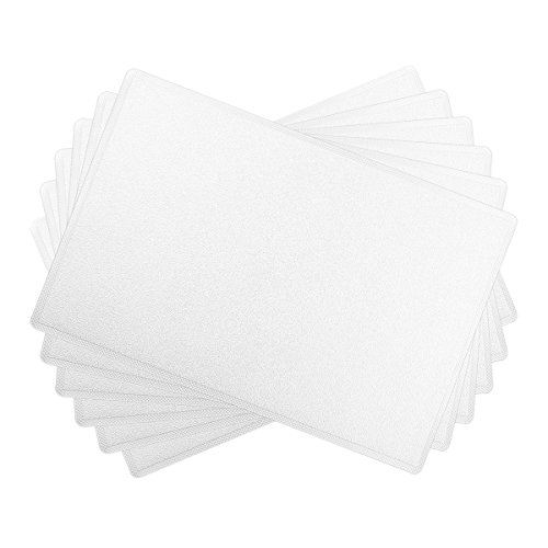 SiCoHome Leather Placemats,Set of 6,White Leather Placemats for Home and Office Decoration