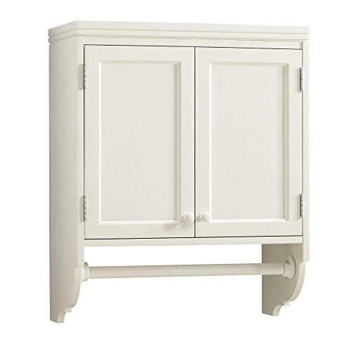 30 in. H Laundry Storage Wall-Mounted Cabinet with Clothing Rod in Picket Fence by Martha Stewart