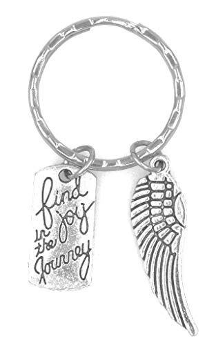 It's All About...You! Find Joy in The Journey Angel Wing Keychain 105I (Angel Wings Keychain)