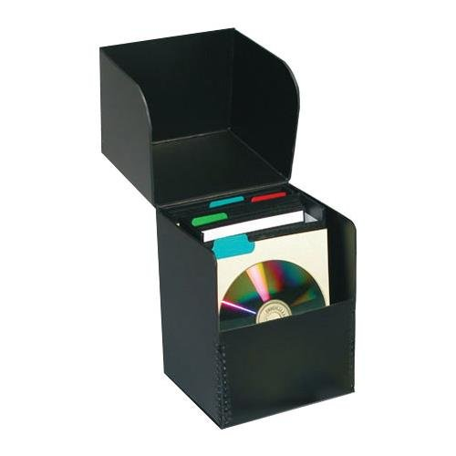Print File Flip-top CD Storage Box, Holds Approximately 50 Sleeved CDs, Archival. ()